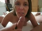 Cock suck queen loves the cum