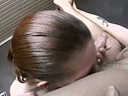 Hairy pussy amateur taking advantage of lover in bedroom