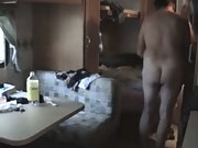 Mature amateur swingers sex party in trailer park caravan porn orgy