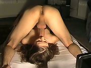 Naked brunette girl with small tits homemade fucking free porn flick