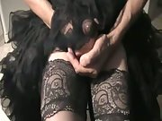 masturbate and cum through nylons