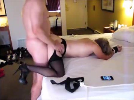 Woman cleaning naked ass