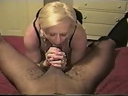 Amateur blonde and black stud cuckold wife loves black men