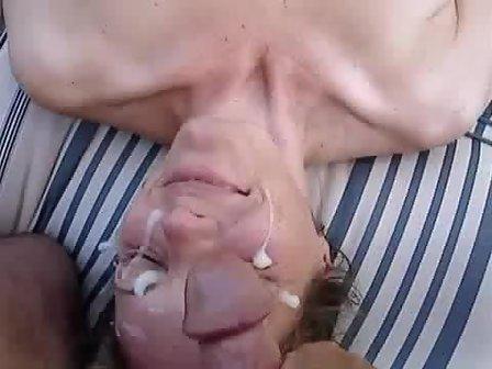 Multiple men tit sucking