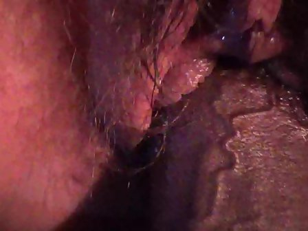 Black shaved vagina