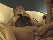 My helpless wife being tied to the bed and used by black stanger