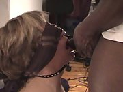 New to Black Cock Interracial Wife on Leash Fucked Bareback