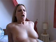 Horny young wife shows off her big round tits in our homemade sex tape