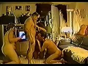 Old mature couple have a sex party with the neighbors who are swingers