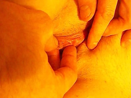 Something is. Beautiful pussy close up clit are