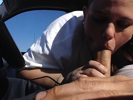 Giving husband blowjob